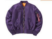 jaqueta de vôo alfa venda por atacado-Americano (verde exército alfa MA - 1 casaco de vôo à prova de homens ou mulheres primavera jaqueta bomber e queda