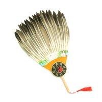 ingrosso ventilatore piuma bianca-Spedizione gratuita Il nuovo Zhuge Liang Gossip fan giocattolo Kong Ming piuma d'oca fan bianco Kong Ming fan giocattolo regalo oggetti di scena