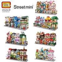 7d3bc19c732 Wholesale toys shopping games for sale - 28 Styles LOZ Mini City Street Game  Room Food