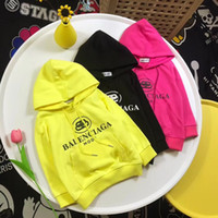 Wholesale pink hoodies for boys resale online - 90 cm Autumn children Shirts for Baby Girls and boys Cotton Hooded Sweatshirts Good Quality Kids Hoodies