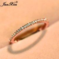 vintage roségold diamantringe großhandel-Choucong Weibliche Diamant Fingerring Rose Gold Gefüllt Schmuck Vintage Hochzeit Verlobungsringe Für Frauen Neujahr Geschenke