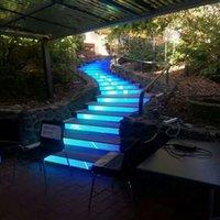 módulo al aire libre al por mayor-Pantalla LED a todo color para exteriores, pantalla LED de paso P4, módulo LED de escalera