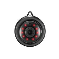 mini camara de vision nocturna al por mayor-Seguridad para el hogar MINI WIFI 1080 P Cámara IP Inalámbrica CCTV por infrarrojos Visión nocturna Detección de movimiento Ranura para tarjeta SD Audio APP E06