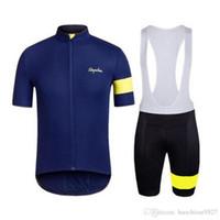 оборудование для велосипедов оптовых-Rapha 2019 спецтехника Велоспорт Одежда велосипедный трикотаж Ropa Ciclismo мужчины велосипед летние футболки и нагрудники шорты Велоспорт Джерси комплект