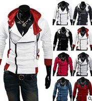Wholesale assassins creed jacket hoodie online - Promotion fashion casual sports outdoor men s assassin creed Desmond miles clothing Hoodie Jacket jacket CasPasy disco