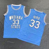 Wholesale college basketball jerseys size 3xl resale online - Larry Bird College Jersey ISU Indiana State Jerseys NCAA Basketball Jerseys Home Baby Blue size S XL