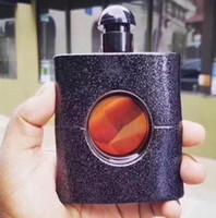 marcas de garrafas de perfume venda por atacado-Famosa marca de perfume para as mulheres 90 ml com bom balck garrafa bom cheiro alta fragrância free shopping