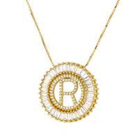 ingrosso ot gioielli d'oro-collana di gioielli firmati per donna uomo zircone 26 lettere ciondolo cerchio colore oro ot moda gratis