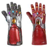 máscara de látex para homens venda por atacado-Novo Homem de Ferro Endgame Manopla Infinito Cosplay Braço Thanos Luvas de Látex Braços Máscara de Halloween Máscara de Super-heróis Adereços