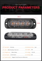 ingrosso 12v regolatore di flash principale-Auto stying 4LED Car Pickup di emergenza Ultra-sottile 12V 24 V Side Strobe Sicurezza Running Warning Lampeggiante luce della lampada car styling