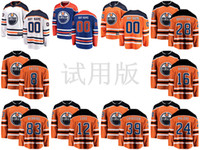 jersey naranja 83 al por mayor-Edmonton Oilers Jerseys Kyle Brodziak 28 Jersey Jujhar Khaira 16 Ty Rattie 8 Matt Benning 83 Orange White Hockey sobre hielo jerseys personalizados cosido