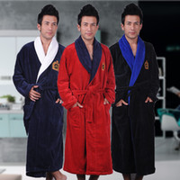 Men s Winter Robe Male Bathrobe Plus XXXL Thick Warm Long Bathrobes  Comfortable Bath Robe Dressing Gown Men Solid Homewear 88abdff26