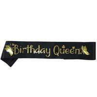 ingrosso le fasce della regina-Elegante compleanno Queen Satin Sash Donna Ragazze Queen Compleanno Sash Compleanno Decorazioni per feste Idee forniture