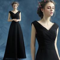 ingrosso abbastanza abiti da sposa neri-Little Black Dresses Plus Size Prom Dresses Long 2019 Ever Abbastanza elegante bordeaux scollo a V senza maniche