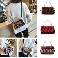 Wholesale ladies backpacks handbags resale online - 2019 Fashion F Letters Handbags PU leather Handbag Protable One Shoulder Bag Trendy Messenger Bag Lady Zipper Storage Tote Wallet Purse C483