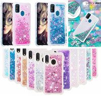 Wholesale moto star for sale - Group buy For Samsung Galaxy M30S A10S A20S MOTO E6 Plus LG W10 W30 Shockproof Bling Liquid Soft TPU Case Quicksand Dynamic Shiny Star Love Skin Cover