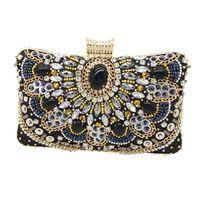 ingrosso borsa borsa in rilievo dell'annata-Pochette da sera e borsette da cocktail da sposa in metallo vintage per donna