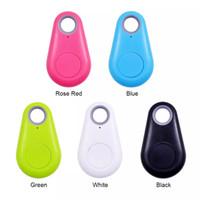 gps etiketleri toptan satış-Mini anti alarm cüzdan keyfiner akıllı etiket bluetooth izci GPS yön bulucu anahtarlık evcil köpek çocuklar etiket izci anahtar ince