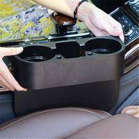 Wholesale card holder racks for sale - Group buy Car Seat Gap Slit Pocket Storage Box Phone Bottle Cups Card Pen Drink Holder Auto Interior Storage Organizer Rack Car Accessorie