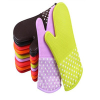 Microwave Oven Heat Insulation Silicone Oven Gloves Slip-resistant Bakeware Kitchen Cooking cake Baking Tools Washing Gloves WY440Q