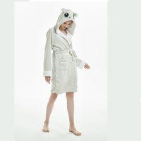 erwachsene fleece-overalls großhandel-Damen Bademantel Tier Hoodies Fleece Flanell Erwachsene Bademäntel Cosplay Kostüm Schlafanzug Einhorn Panda Bademäntel Homewear Overall