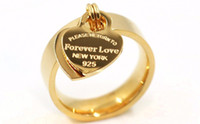 Wholesale forever love rings for sale - Group buy Luxury Designer Rings Forever Love Letter Ring Women Double Heart Ring Jewelry for Gift Color Size