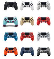 juegos bluetooth android al por mayor-Controlador inalámbrico de juegos Bluetooth para PS4 Controlador de juegos Gamepad Joystick para videojuegos de Android con caja de venta al por menor