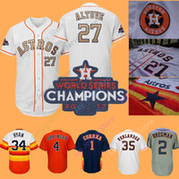 Wholesale alex bregman jersey online - Houston Astros Jersey Carlos Correa Alex  Bregman Ryan George Springer badd1774d