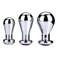 Stainless Steel Crystal Jewelry Anal Toys Butt Plugs Dildo Adult Products for Women and Men