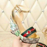 nouveau design talons achat en gros de-aaatop nouveau cuir véritable marque dames de conception talons hauts habillées chaussures fille de la mode fashion a souligné talons hauts sandales pantoufles strass 4.5 cm