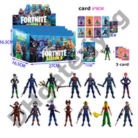 muñecas de juego al por mayor-Fortnite Doll toys Nuevos niños 15cm 4.5 'Juego de dibujos animados Fortnite llama esqueleto Papel Figura Incluyendo empaque minorista