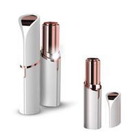 senhoras senhoras depiladora elétrica venda por atacado-Mini Elétrica Depiladora Para O Batom Feminino Forma Shaver Shaver USB Portátil Lady Removedor De Pêlos Para As Mulheres Corpo Rosto LJJR1029