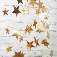Wholesale banner props resale online - Festivla Christmas Wedding Party DIY Decor Props Mirror Star Banner Baby Birthday Party Decor Banquet Artistic Atmosphere Supply