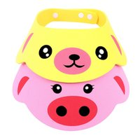 детские шапки для мытья шампуней оптовых-New Arrival Lovely Adjustable Baby Hat Toddler Kids Shampoo Bathing Shower Cap Wash Hair Visor Caps For Baby Care