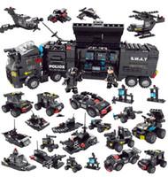 uçan şahinler toptan satış-Black Hawk Flying Dragon özel polis çocuk oyuncakları içeren yapı taşları monte