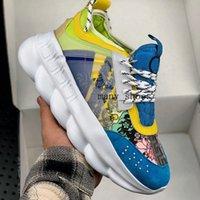 melhores sapatos de moda para homens venda por atacado-Nova Reação Em Cadeia Das Mulheres Dos Homens de Couro De Luxo Sapatos de Grife de Moda de Melhor Qualidade Sapatilhas Sapatilhas Sapatos Casuais Com Saco de Poeira 36-45