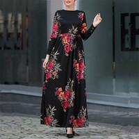 roupa islâmica jilbab abaya venda por atacado-Abayas Para As Mulheres Muçulmanas Hijab Vestido Jilbab Abaya Kaftan Robe Caftan Dubai Ramadan Qatar EAU Oman Turco Elbise Vestuário Islâmico