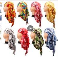 faire les cheveux achat en gros de-Accessoires de cheveux Camo Durag Bandanas Bandeau Chapeaux Pour Femmes Hommes Long Tail Pirate Chapeau Vagues doo du rag Turban Tête Cap