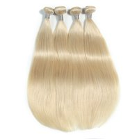Wholesale platinum blonde remy hair weave for sale - Group buy The New Style Of Platinum Blonde Brazilian Virgin Straight Remy Hair Extensions Human Hair Weaving Inchs Unprocessed