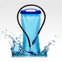 hydratation sportive des sacs vésicaux achat en gros de-2L Portable Bleu Eau Sac À vessie Hydratation Camping Randonnée Sports De Plein Air 39 * 17.5 * 0.76cm