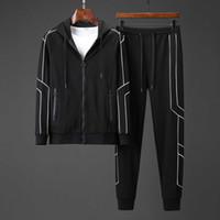 nouvelle ligne sportswear achat en gros de-Nouvelle arrivée Mens Designer Sportswear Casual Slim Warm Line Ligne Print Sports Set