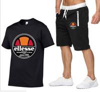 colete de treino para homens venda por atacado-Designer de Verão Camisa + Shorts Dos Homens Agasalho Dos Homens Tenda Collar Com Decote Em V Mangas Compridas Pullover Com Calça Casual Jogger Ternos Homme Sportsuit