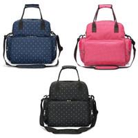 горошек рюкзак для ребенка оптовых-Fashion New Polka Dot Backpack Diaper Bag Waterproof Baby Nappy Bag Mom Large Capacity Shoulder Rucksack Multifunction