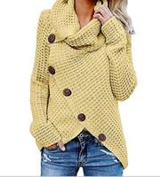 ropa de punto al por mayor-Mujeres jerseys de punto Manga larga o cuello Sólido chica Suéter Tops Blusa Camisa jerseys invierno mujer ropa