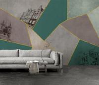 papel pintado de papel de revestimiento al por mayor-Minimalismo abstracto 3d Wallpaper mural Línea Alivio Geometría moderna Rayas Papel de pared Sala de estar Sofá Fondo Fondos de pantalla Decoración 3D