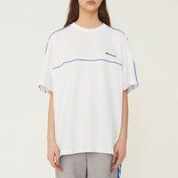 ingrosso oversize t-shirt bianche-Ader error T-shirt oversize Nero Bianco Manica corta Logo in jersey di cotone ricamato Tee Uomo Donna Sportswear Adererror Top CLI0317
