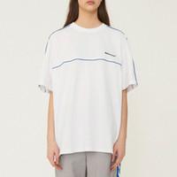 büyük boy siyah beyaz tişörtler toptan satış-Ader hata Boy T-shirt Siyah Beyaz Kısa Kollu Logosu Işlemeli Pamuk Jersey Tee Erkek Kadın Spor Adererror CLI0317 Tops