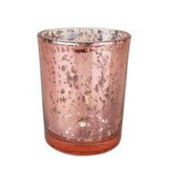 ураганные фонари свечи оптовых-Crystal Like Glass Подсвечник Романтический Подсвечник Tealight Candle Cup Главная Украшение Свадьбы Мода Поставки Партии Многоцветный