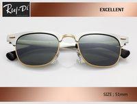 ingrosso occhiali caldi del sole di marca-nuova vendita calda alluminio Retro Club 51mm maestro Occhiali da sole designer del marchio vintage Donna Uomo rd3507 Rivestimento rosa gradiente gafas Occhiali da sole.