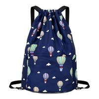 Wholesale sport style string bag backpack for sale - Group buy Waterproof Drawstring Sport Bag lightweight Sackpack backpack for Men and Women Blue